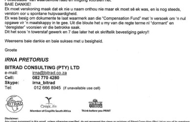 Irna Pretorius Testimonial